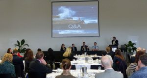 Question Time - L-R: Giovanna Lever, Matt Smith, Anthony Lever, Gavin Dengate, Dr David Beirman